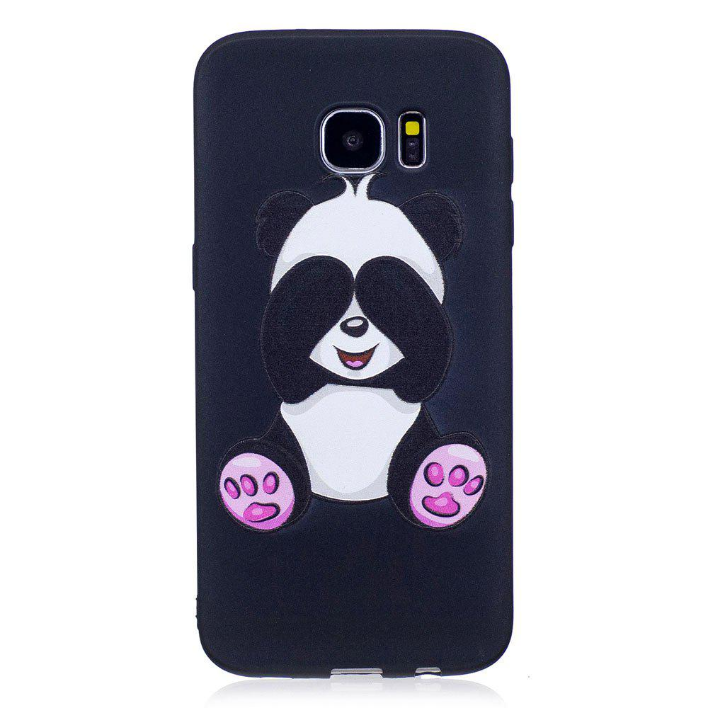 Sale Relief Silicone Case for Samsung Galaxy S7 Edge Panda Pattern Soft TPU Protective Back Cover