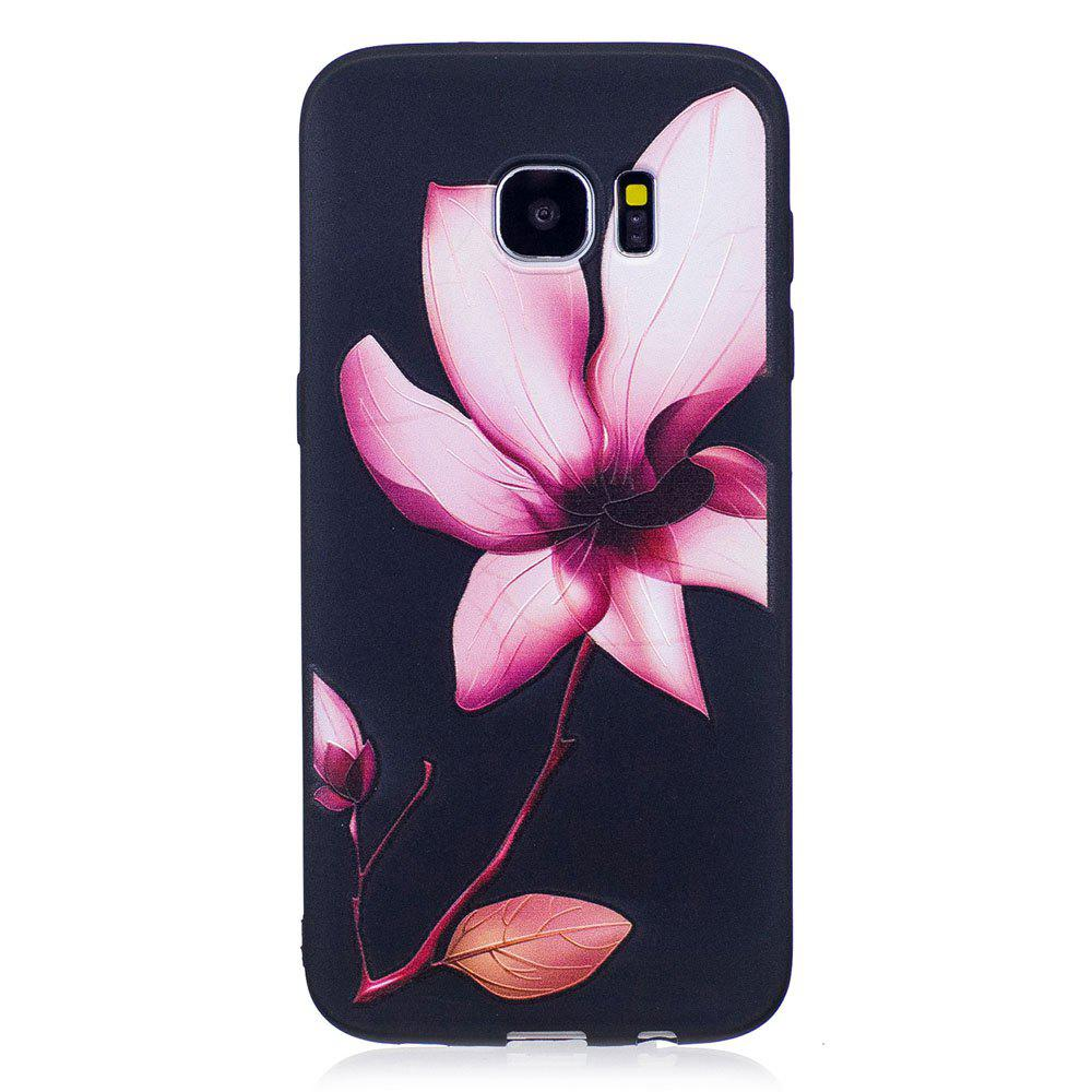 Unique Relief Silicone Case for Samsung Galaxy S7 Edge Lotus Pattern Soft TPU Protective Back Cover