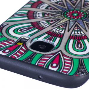 Relief Silicone Case for Samsung Galaxy S7 Edge Mandala Pattern Soft TPU Protective Back Cover -
