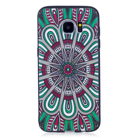 Outfit Relief Silicone Case for Samsung Galaxy S7 Edge Mandala Pattern Soft TPU Protective Back Cover