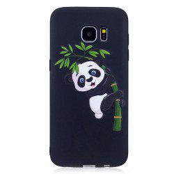Relief Silicone Case for Samsung Galaxy S7 Edge Bamboo Panda Pattern Soft TPU Protective Back Cover -