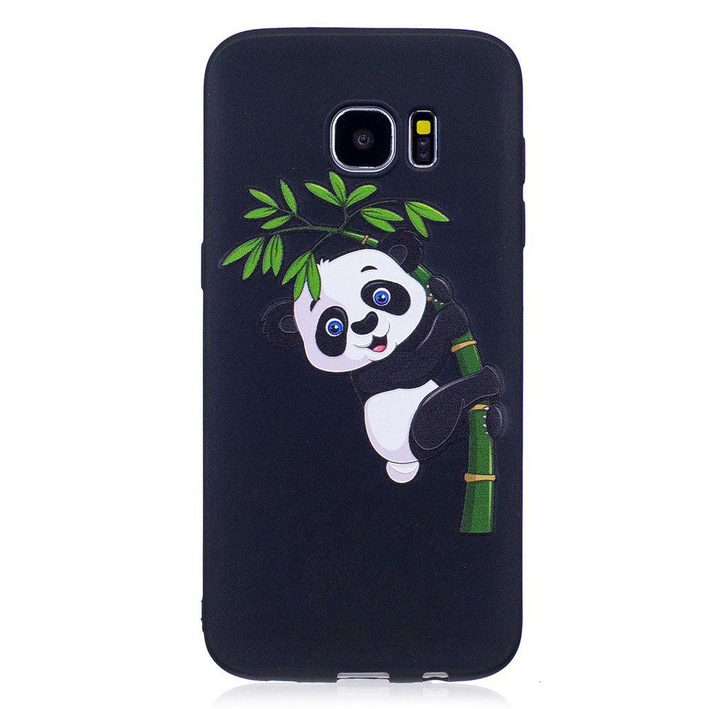 Shops Relief Silicone Case for Samsung Galaxy S7 Edge Bamboo Panda Pattern Soft TPU Protective Back Cover