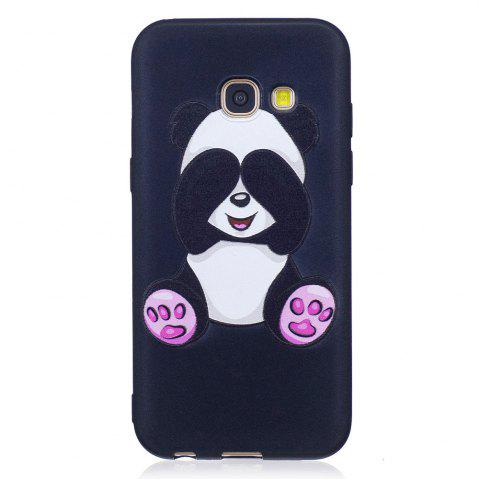 Fashion Relief Silicone Case for Samsung Galaxy A3 2017 Panda Pattern Soft TPU Protective Back Cover
