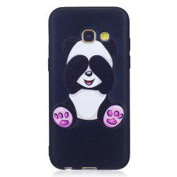 Relief Silicone Case for Samsung Galaxy A3 2017 Panda Pattern Soft TPU Protective Back Cover -