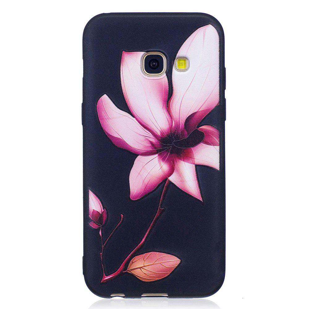 Hot Relief Silicone Case for Samsung Galaxy A3 2017 Lotus Pattern Soft TPU Protective Back Cover