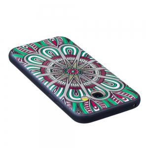 Relief Silicone Case for Samsung Galaxy A3 2017 Mandala Pattern Soft TPU Protective Back Cover -
