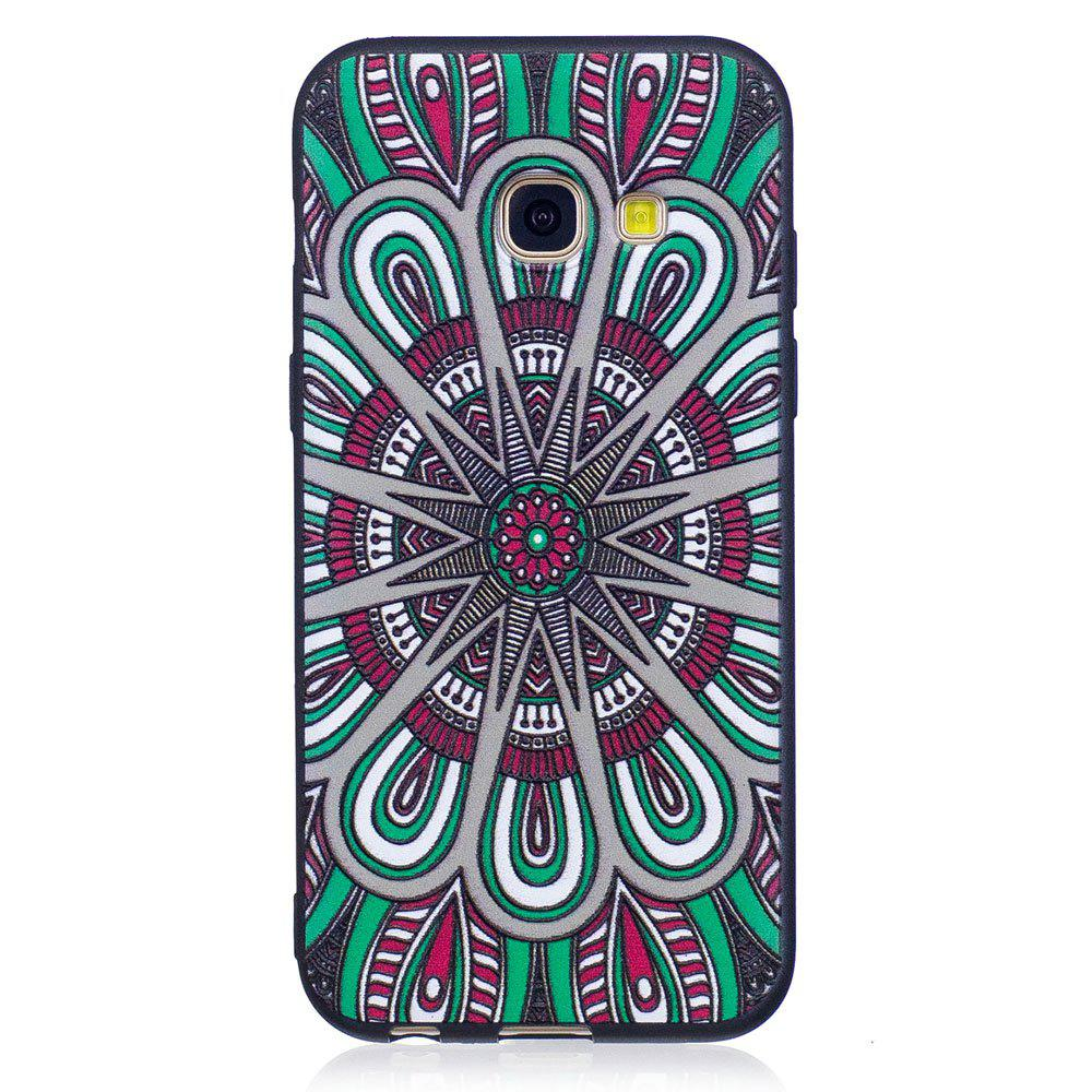 Chic Relief Silicone Case for Samsung Galaxy A3 2017 Mandala Pattern Soft TPU Protective Back Cover
