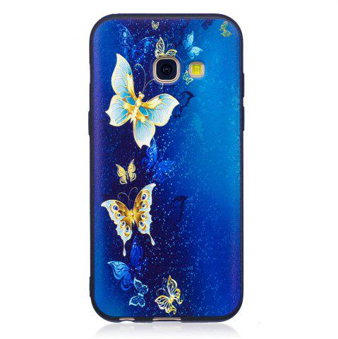 Shops Relief Silicone Case for Samsung Galaxy A3 2017 Golden Butterfly Pattern Soft TPU Protective Back Cover
