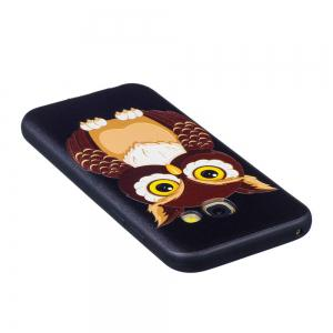 Relief Silicone Case for Samsung Galaxy A3 2017 Owl Pattern Soft TPU Protective Back Cover -