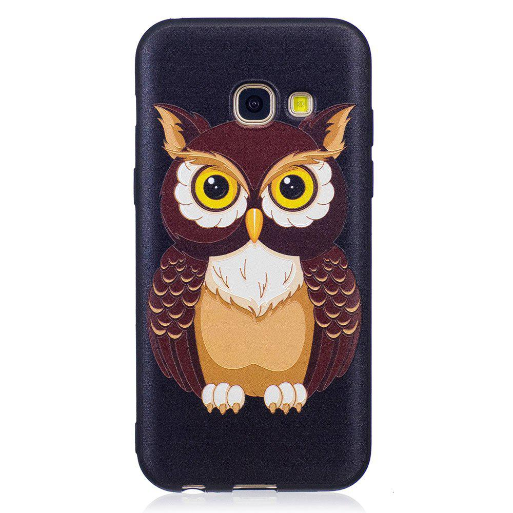 Buy Relief Silicone Case for Samsung Galaxy A3 2017 Owl Pattern Soft TPU Protective Back Cover