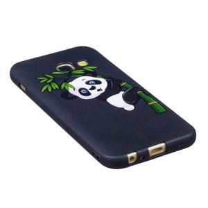 Relief Silicone Case for Samsung Galaxy A3 2017 Bamboo Panda Pattern Soft TPU Protective Back Cover -