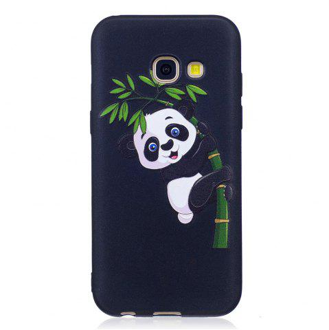 New Relief Silicone Case for Samsung Galaxy A3 2017 Bamboo Panda Pattern Soft TPU Protective Back Cover