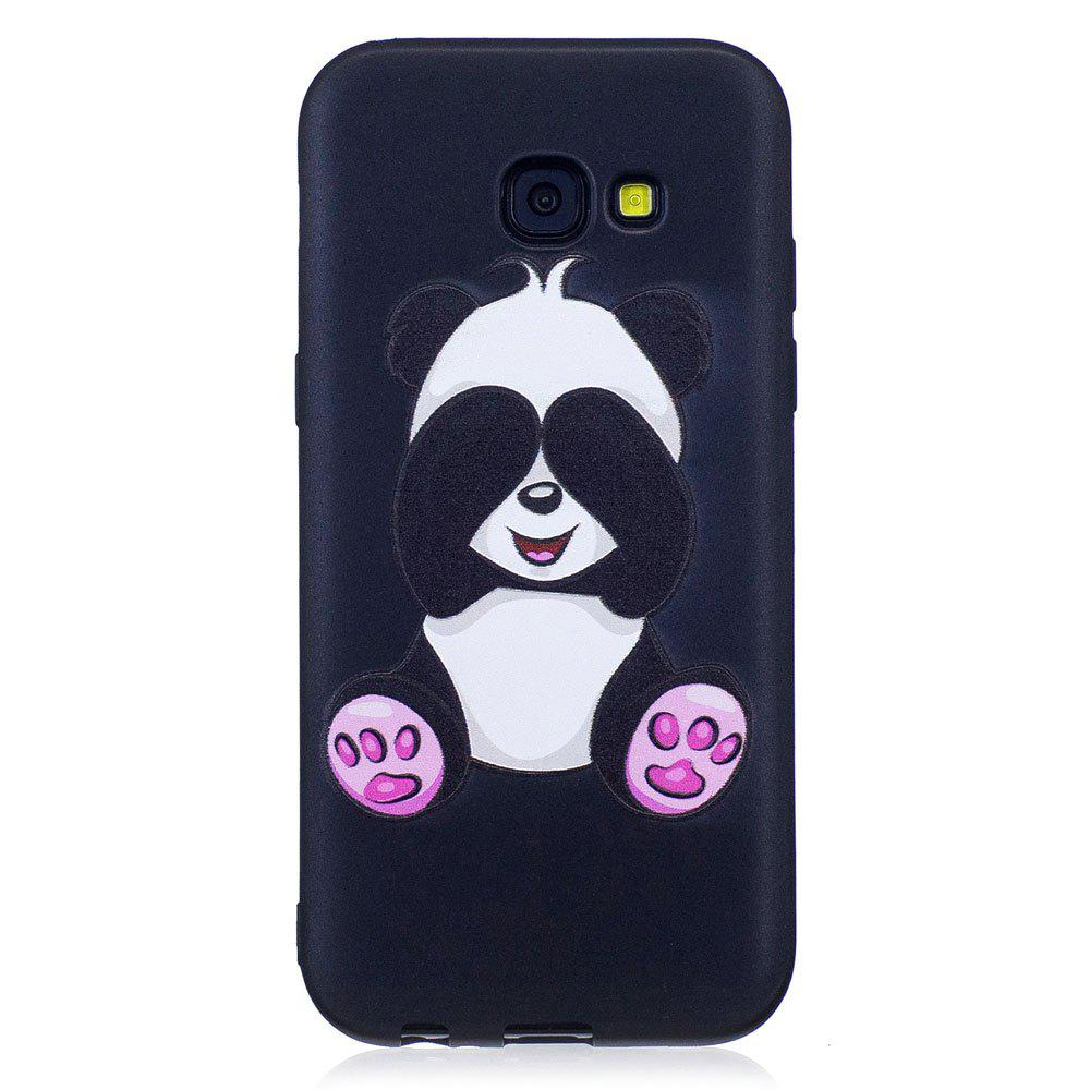 Sale Relief Silicone Case for Samsung Galaxy A5 2017 Panda Pattern Soft TPU Protective Back Cover