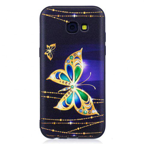 Cheap Relief Silicone Case for Samsung Galaxy A5 2017 Large Butterfly Pattern Soft TPU Protective Back Cover