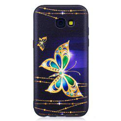 Relief Silicone Case for Samsung Galaxy A5 2017 Large Butterfly Pattern Soft TPU Protective Back Cover -