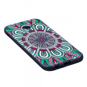 Relief Silicone Case for Samsung Galaxy A5 2017 Mandala Pattern Soft TPU Protective Back Cover -