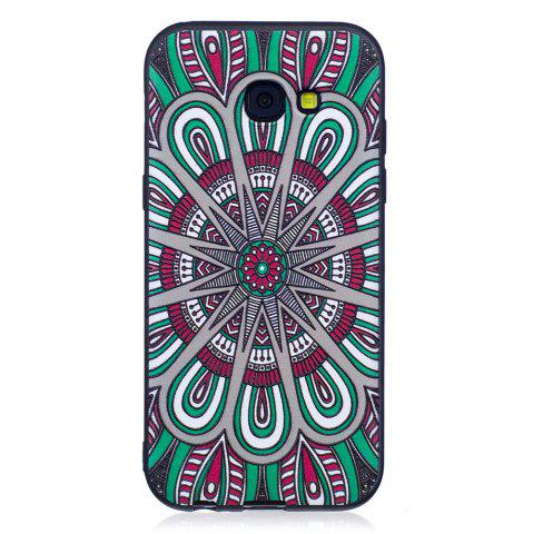 Store Relief Silicone Case for Samsung Galaxy A5 2017 Mandala Pattern Soft TPU Protective Back Cover