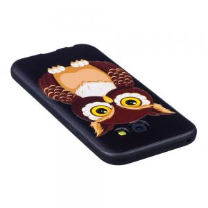 Relief Silicone Case for Samsung Galaxy A5 2017 Owl Pattern Soft TPU Protective Back Cover -