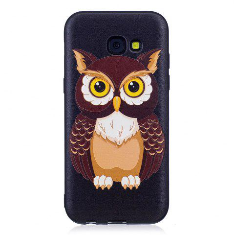 Sale Relief Silicone Case for Samsung Galaxy A5 2017 Owl Pattern Soft TPU Protective Back Cover
