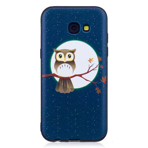 Cheap Relief Silicone Case for Samsung Galaxy A5 2017 Moon and Owl Pattern Soft TPU Protective Back Cover