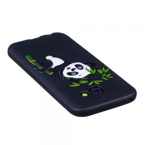 Relief Silicone Case for Samsung Galaxy A5 2017 Bamboo Panda Pattern Soft TPU Protective Back Cover -