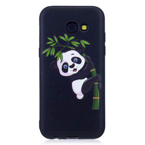 Unique Relief Silicone Case for Samsung Galaxy A5 2017 Bamboo Panda Pattern Soft TPU Protective Back Cover