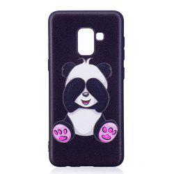 Relief Silicone Case for Samsung Galaxy A8 2018 Panda Pattern Soft TPU Protective Back Cover -