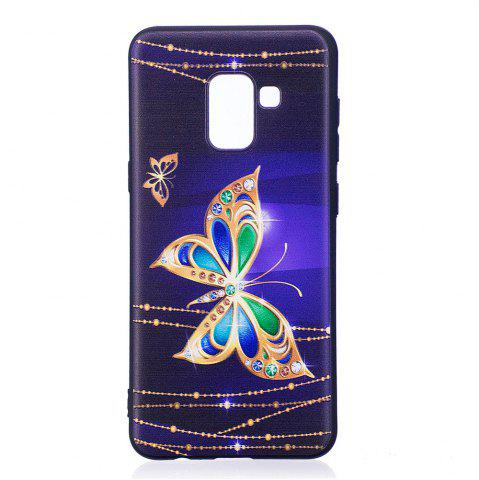 Shops Relief Silicone Case for Samsung Galaxy A8 2018 Large Butterfly Pattern Soft TPU Protective Back Cover