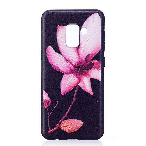 Best Relief Silicone Case for Samsung Galaxy A8 2018 Lotus Pattern Soft TPU Protective Back Cover
