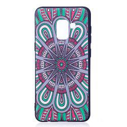 Relief Silicone Case for Samsung Galaxy A8 2018 Mandala Pattern Soft TPU Protective Back Cover -