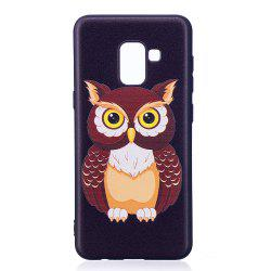 Relief Silicone Case for Samsung Galaxy A8 2018 Owl Pattern Soft TPU Protective Back Cover -