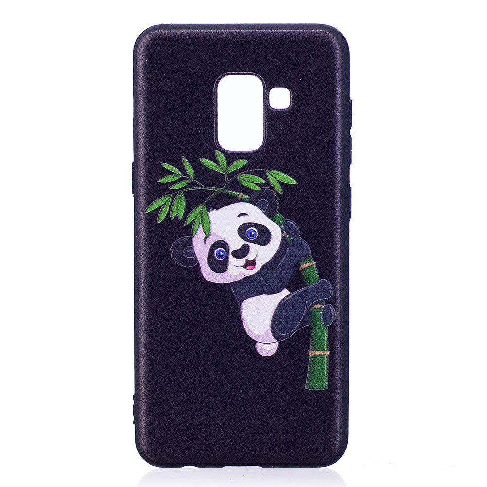 Best Relief Silicone Case for Samsung Galaxy A8 2018 Bamboo Panda Pattern Soft TPU Protective Back Cover