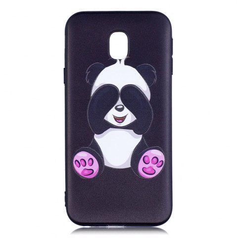 Hot Relief Silicone Case for Samsung Galaxy J3 2017 / J330 Panda Pattern Soft TPU Protective Back Cover Europe Version