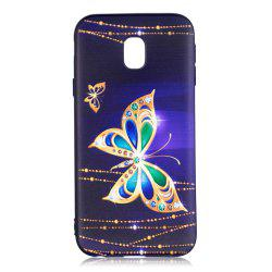 Relief Silicone Case for Samsung Galaxy J3 2017 / J330 Large Butterfly Pattern Soft TPU Back Cover Europe Version -