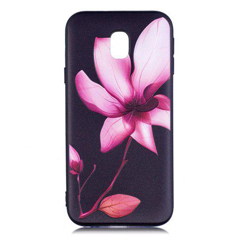 Рельефный силиконовый чехол для Samsung Galaxy J3 2017 / J330 Lotus Pattern Soft TPU Back Cover Europe Version