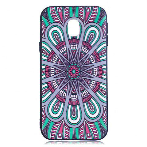 Sale Relief Silicone Case for Samsung Galaxy J3 2017 / J330 Mandala Pattern Soft TPU Back Cover Europe Version