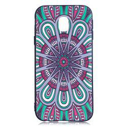 Relief Silicone Case for Samsung Galaxy J3 2017 / J330 Mandala Pattern Soft TPU Back Cover Europe Version -