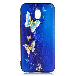 Relief Silicone Case for Samsung Galaxy J3 2017 / J330 Butterfly Pattern Soft TPU Back Cover Europe Version -