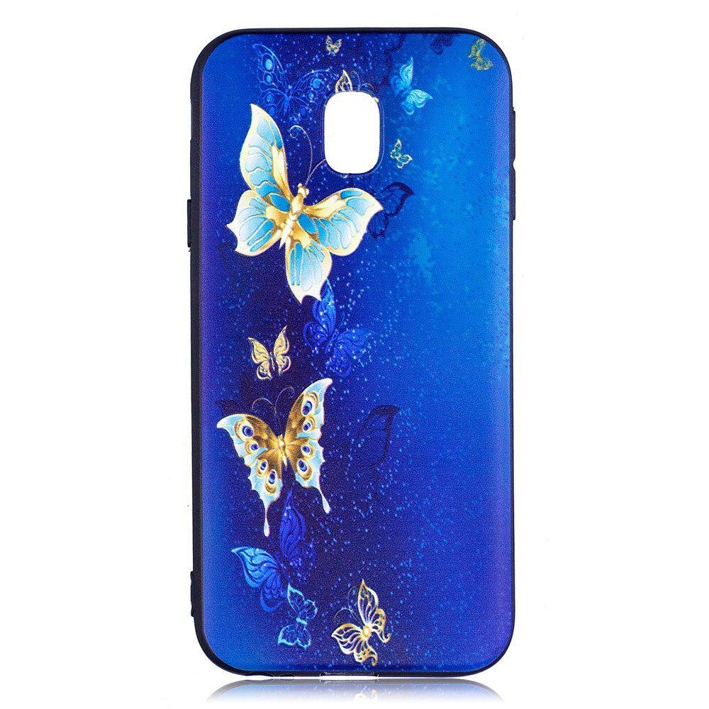 Shops Relief Silicone Case for Samsung Galaxy J3 2017 / J330 Butterfly Pattern Soft TPU Back Cover Europe Version