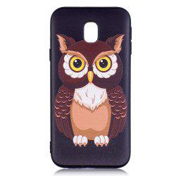 Relief Silicone Case for Samsung Galaxy J3 2017 / J330 Owl Pattern Soft TPU Back Cover Europe Version -
