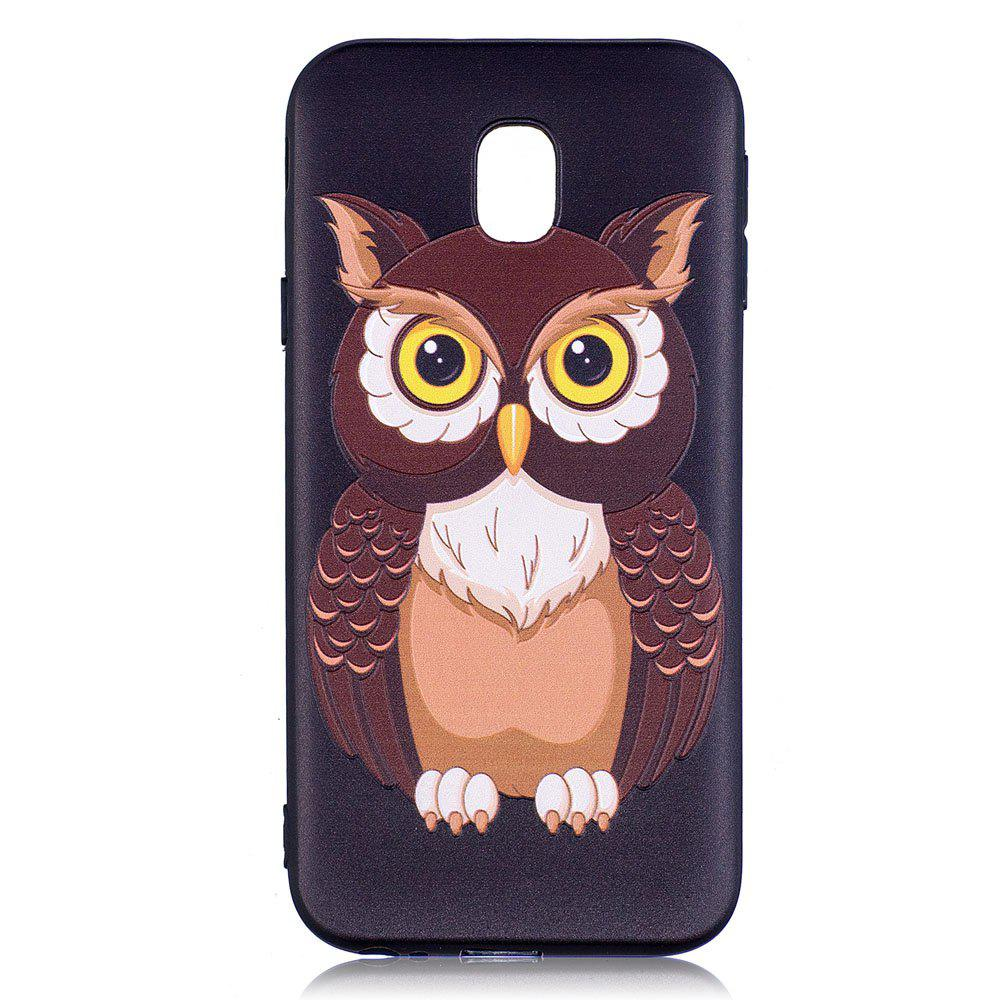 Best Relief Silicone Case for Samsung Galaxy J3 2017 / J330 Owl Pattern Soft TPU Back Cover Europe Version