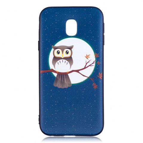 Outfit Relief Silicone Case for Samsung Galaxy J3 2017 / J330 Moon and Owl Pattern Soft TPU Back Cover Europe Version