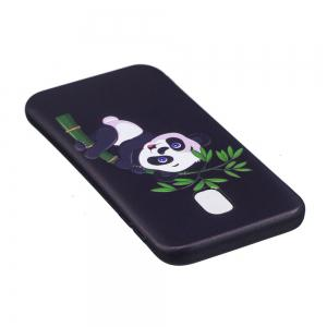 Relief Silicone Case for Samsung Galaxy J3 2017 / J330 Bamboo Panda Pattern Soft TPU Back Cover Europe Version -