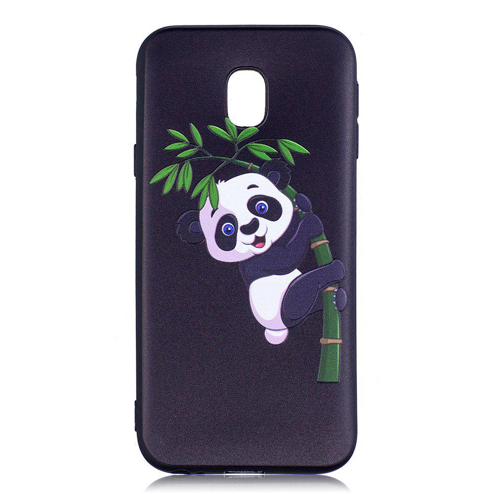 Cheap Relief Silicone Case for Samsung Galaxy J3 2017 / J330 Bamboo Panda Pattern Soft TPU Back Cover Europe Version