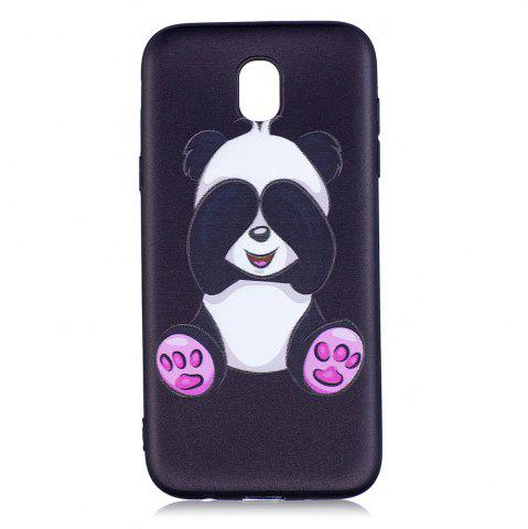 Fashion Relief Silicone Case for Samsung Galaxy J5 2017 / J530 Panda Pattern Soft TPU Back Cover Europe Version