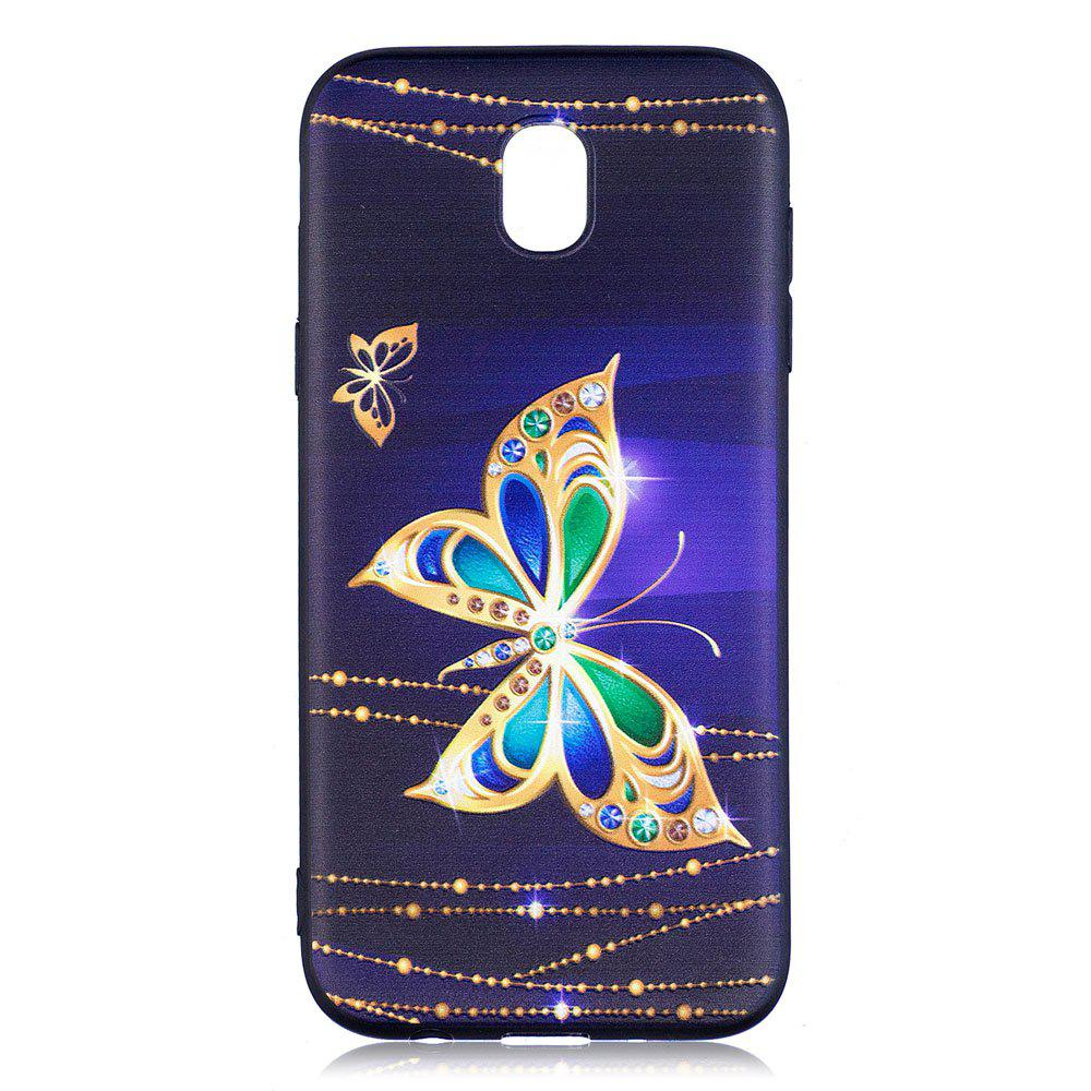 Hot Relief Silicone Case for Samsung Galaxy J5 2017 / J530 Large Butterfly Pattern Soft TPU Back Cover Europe Version