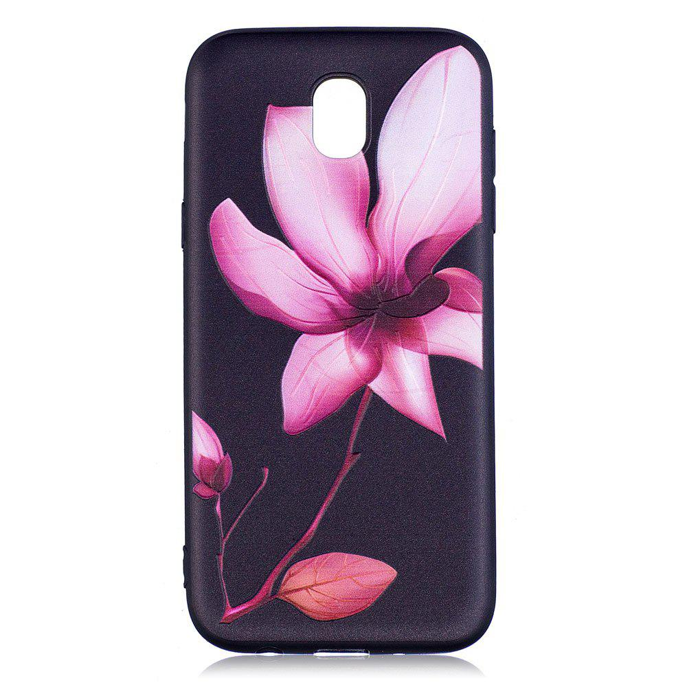 Shop Relief Silicone Case for Samsung Galaxy J5 2017 / J530 Lotus Pattern Soft TPU Back Cover Europe Version