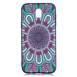 Relief Silicone Case for Samsung Galaxy J5 2017 / J530 Mandala Pattern Soft TPU Back Cover Europe Version -