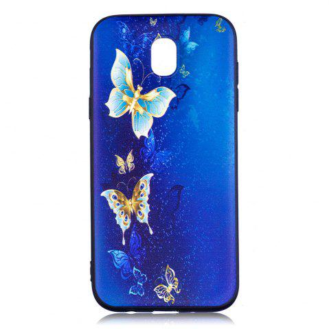 Sale Relief Silicone Case for Samsung Galaxy J5 2017 / J530 Butterfly Pattern Soft TPU Back Cover Europe Version