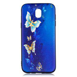 Relief Silicone Case for Samsung Galaxy J5 2017 / J530 Butterfly Pattern Soft TPU Back Cover Europe Version -